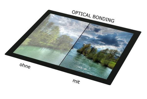 Hier ein Vergleich mit und ohne Optical Bonding